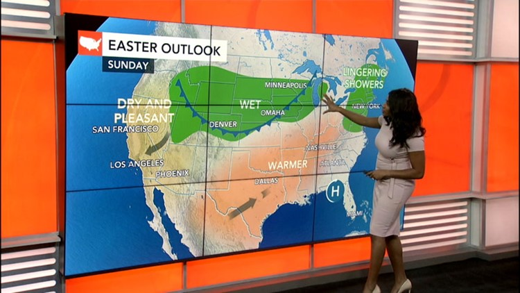 Which parts of the US will stay dry for Easter?