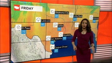 Gusty thunderstorms to target South Central states