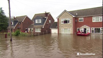Disastrous flooding forces residents to leave their homes