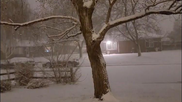 Heavy snow blankets Colorado