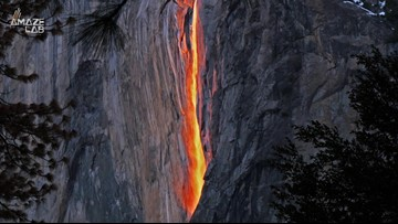 You Can Now Go See This Rare Waterfall That Seems To Be Raining Fire