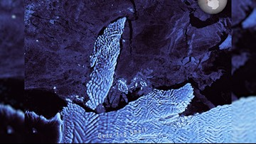Giant Iceberg Spotted Breaking Off Antarctic Ice Shelf