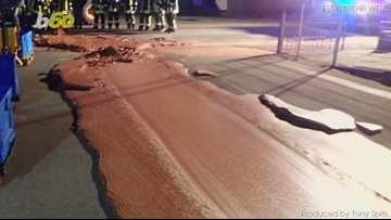 Chocolate Factory Catastrophe Leaves Road in Germany Covered in a 'Ton of Chocolate'