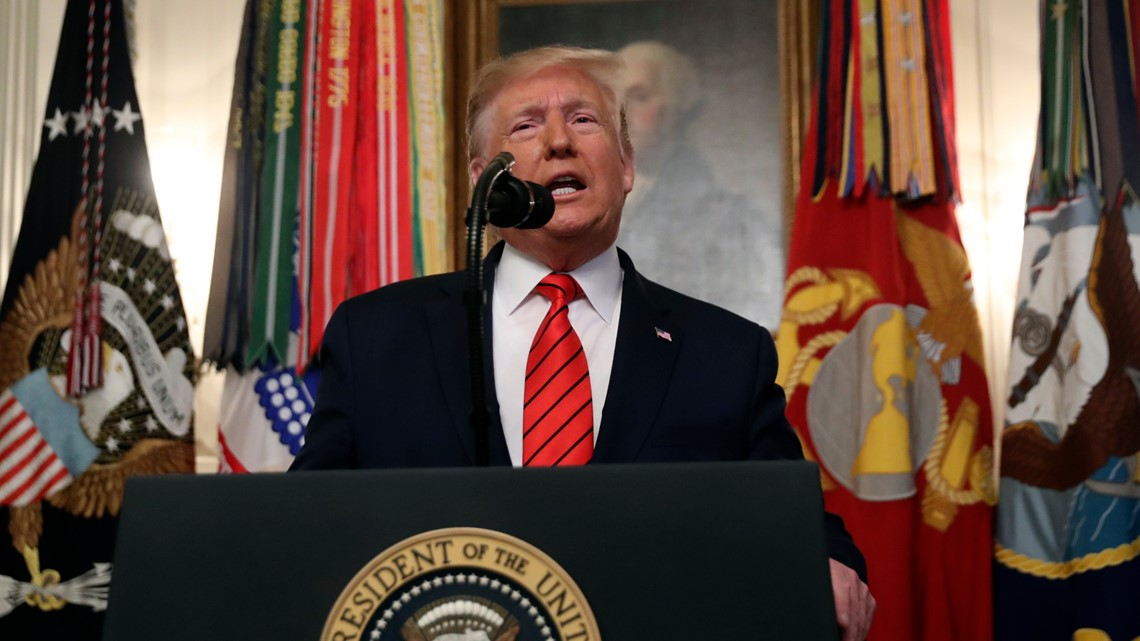 WATCH Trump announce death of Islamic State leader   wcnc.com