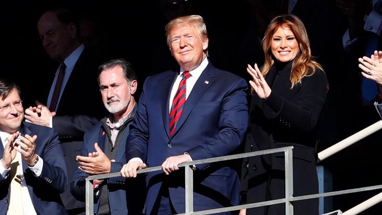 Trump in Tuscaloosa: President soaks in Deep South cheers at Alabama-LSU game