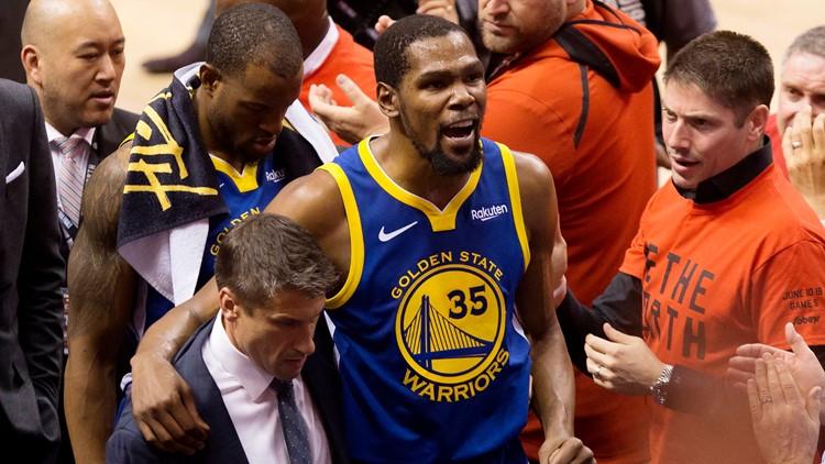 Kevin Durant exits game 5 NBA Finals Basketball
