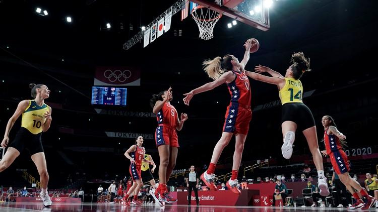 Stewart leads US vs. Australia in Olympics basketball quarterfinals