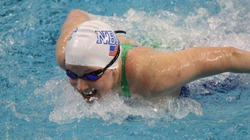 US swimmer Sierra Schmidt shows off pre-race dance moves at Olympic trials