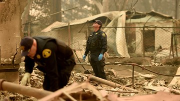 Northern California fire toll at 42, victims found in cars and homes