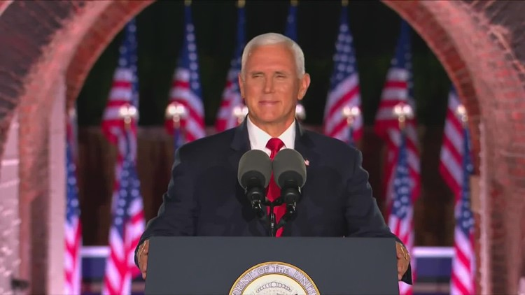 Pence accepts GOP VP nomination on Night 3 of RNC, Trump makes surprise appearance