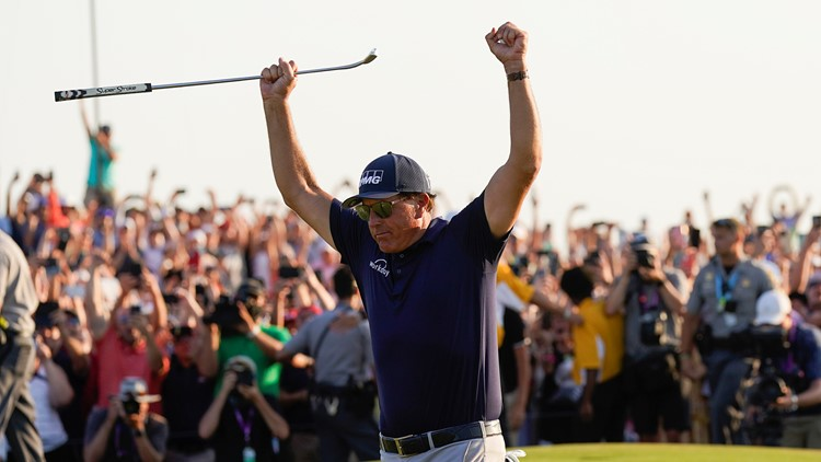 Phil Mickelson, 50, takes PGA Championship to become golf's oldest major winner