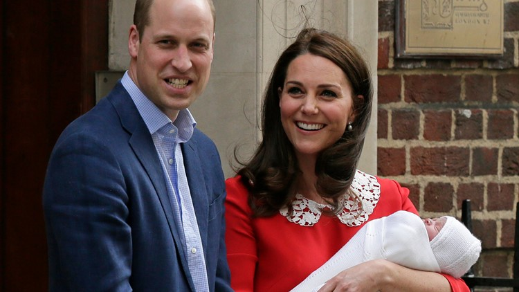 Britain Royal Baby Prince William and Kate 2018 AP