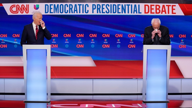 Joe Biden Bernie Sanders Debate March 15