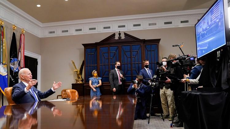 Biden thanks NASA team for giving US 'dose of confidence'