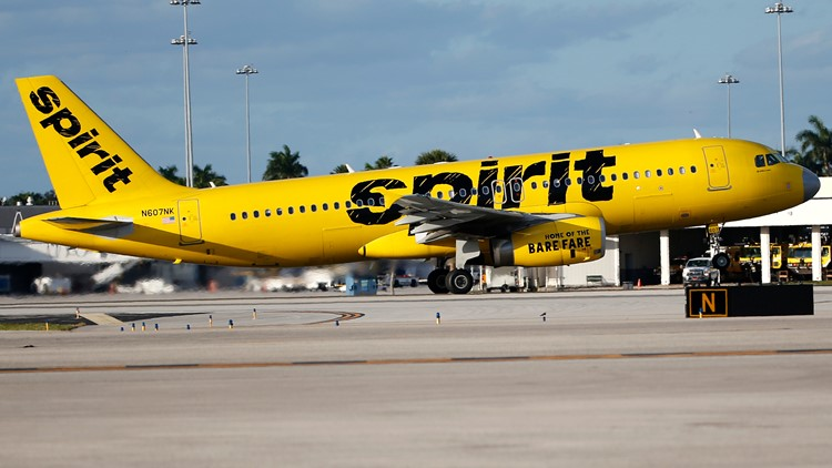 Spirit cancels all flights to Charlotte Wednesday as airline faces nationwide delays