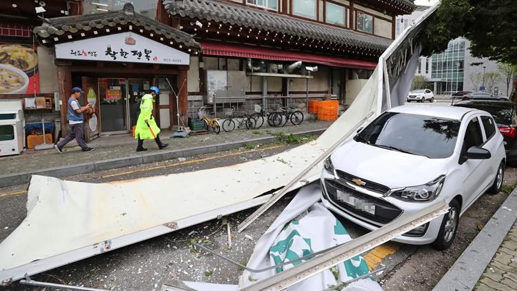 South Korea Koreas Typhoon