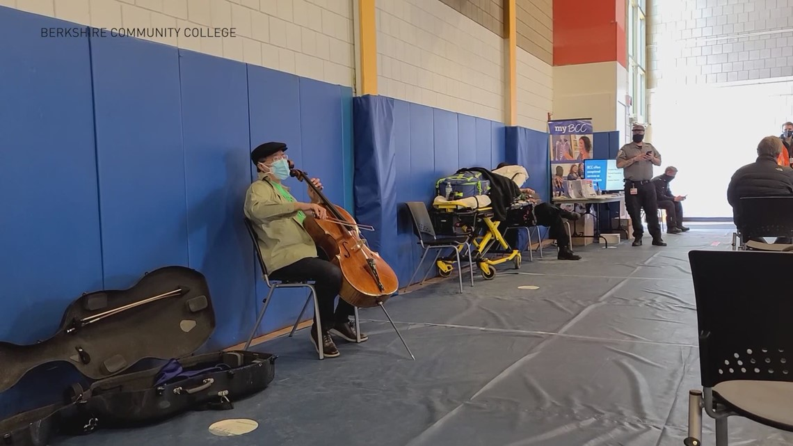 Yo-Yo Ma plays impromptu concert at clinic after second dose of COVID vaccine