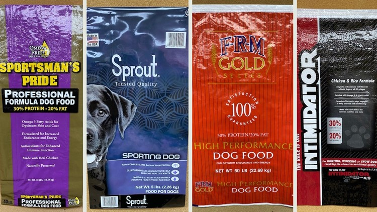 Company issues recall on dog food over possible salmonella contamination