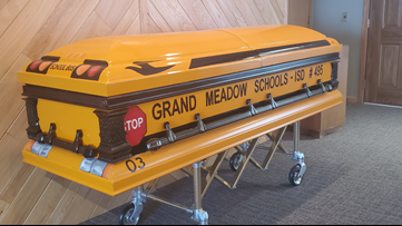 Longtime Minnesota school bus driver will be laid to rest in school bus casket
