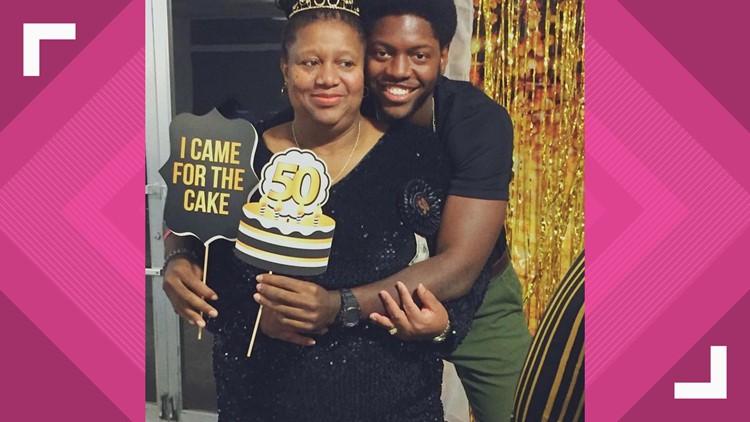 Joseph Allen with Mom