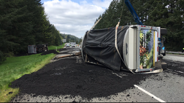 Stinky Situation: Human waste spilled onto I-90 after semi driver falls asleep, officials say