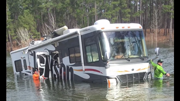 Dog puts fisherman's RV in reverse, backs it into Lake Sam Rayburn