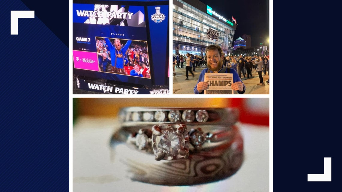 Blues fan's powerful high-five costs him his wedding ring