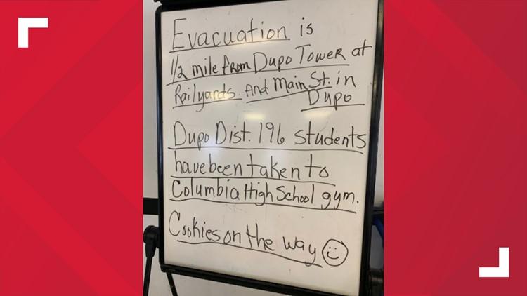 Dupo evacuation