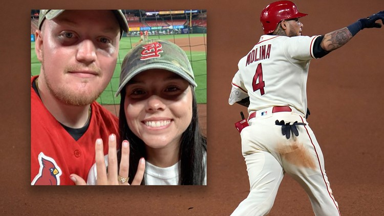 'You can't make that stuff up' | Yadier Molina gives couple engagement story of a lifetime
