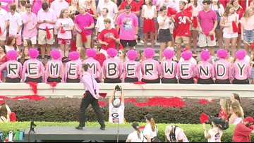 Georgia Bulldog fans to wear pink in honor of Wendy Anderson for Arkansas State game