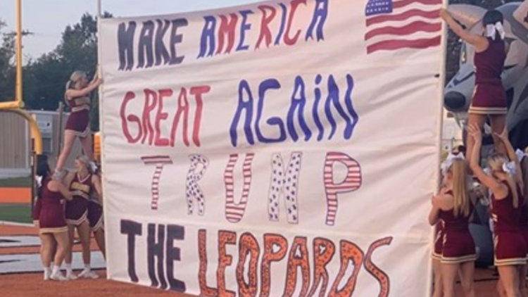 Arkansas school criticized after 'Make America Great Again' banner held up at football game