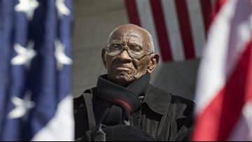 Richard Overton, America's oldest living World War II veteran, is in the hospital with pneumonia