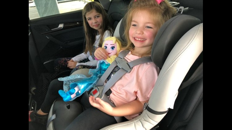 Happy in a free Silvercar car seat (Photo by Summer Hull/The Points Guy)