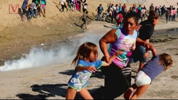 Honduran Family Fleeing from Tear Gas at the Border, Now Allowed in U.S.
