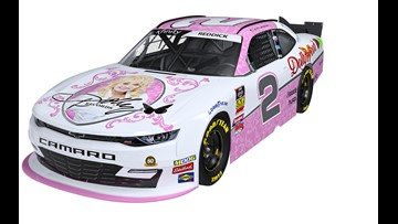 Dolly Parton is going to be on a racecar at Bristol, baby!