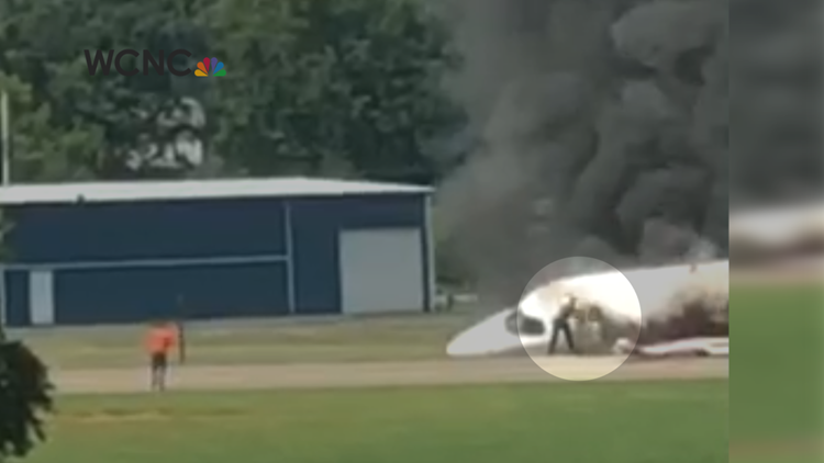 Earnhardt family seen escaping fiery plane crash in new video