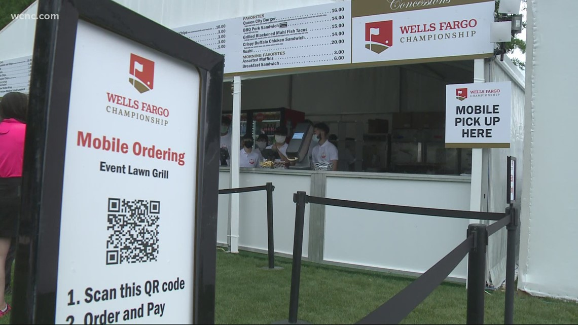 The Wells Fargo Championship looks a little different this year with COVID-19 precautions in place