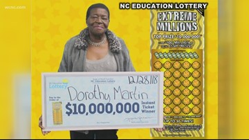North Carolina grandmother wins $10 million on scratch-off ticket