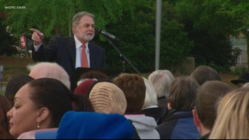 Over 100 gather for citywide sunrise Easter service