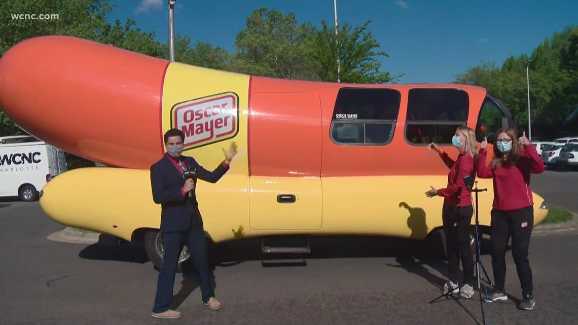 The Oscar Meyer Wienermobile visits WCNC!