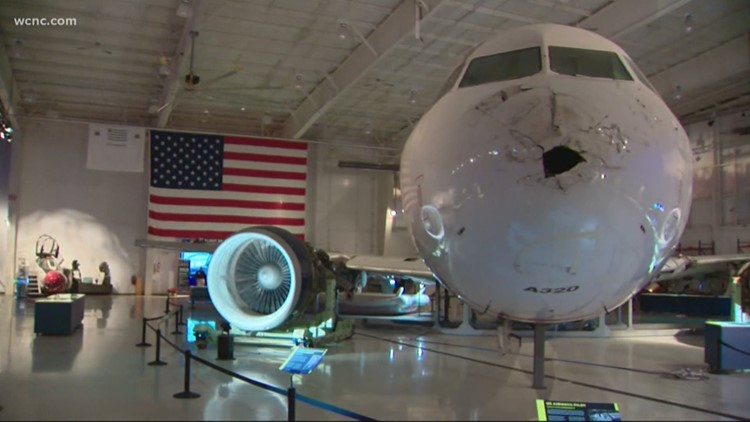 Miracle on the Hudson plane going into storage
