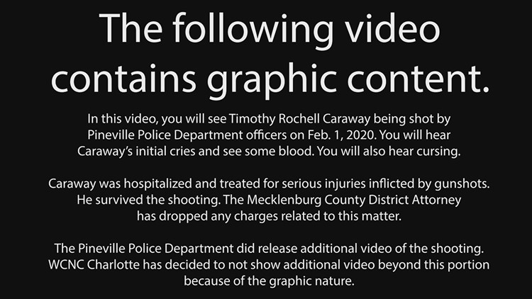 VIEWER DISCRETION: Pineville police body camera video showing the shooting of Timothy Rochell Caraway