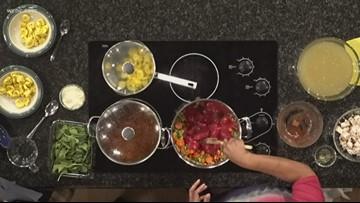 Chef Andria shows how to prepare Turkey Tortellini Soup