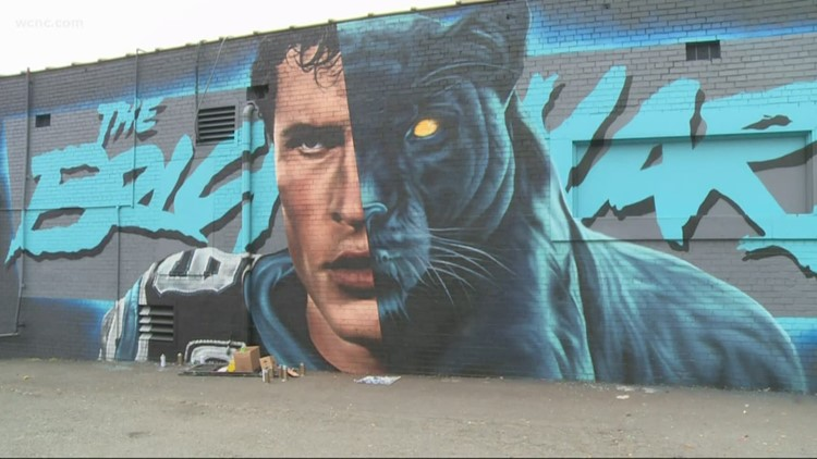 New Luke Kuechly mural goes up in South End