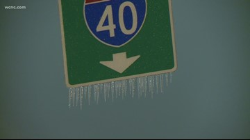 Snow and ice causes problems in Greensboro