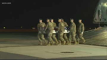 'Dignified Transfer'   Remains of NC soldier arrive in the United States