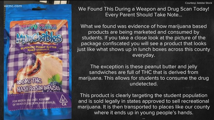 Snack with THC found in student's backpack in South Carolina