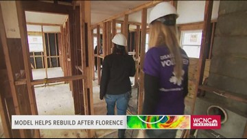 Tracking the tropics: Supermodel helps fix Florence-damaged homes