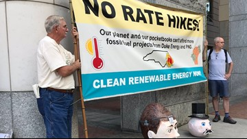 Groups protest Piedmont Natural Gas rate hike proposal
