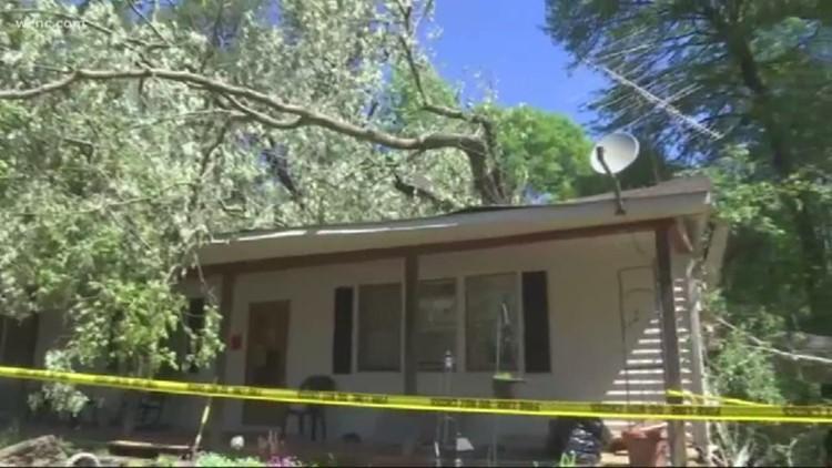 Tree destroys Gaston County couple's home